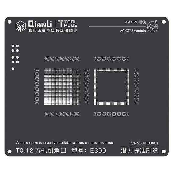 شابلون باکیفیت و حرفه ای Qianli مدل A9 CPU جهت شابلون آیفون 6S