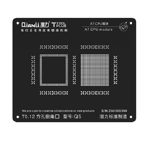 مجموعه شابلون های مشکی و ۳D سری CPU iPhone برند Qianli