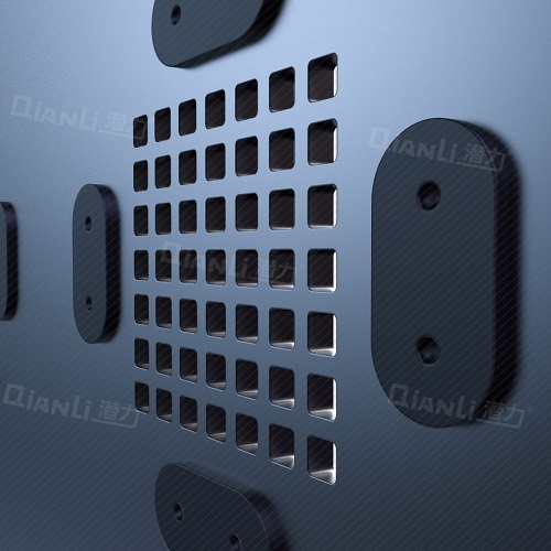 شابلون 3D مشکی Qianli جهت شابلون CPU A8 آیفون 6