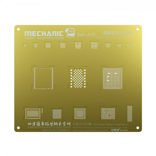 شابلون طلایی و 3D برند Mechanic جهت شابلون آیسی های آیفون 7