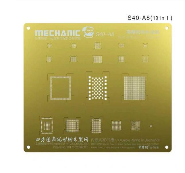 شابلون طلایی و 3D برند Mechanic جهت شابلون آیسی های آیفون 6