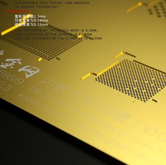 شابلون طلایی و 3D برند Mechanic جهت شابلون آیسی های آیفون XS, XS MAX