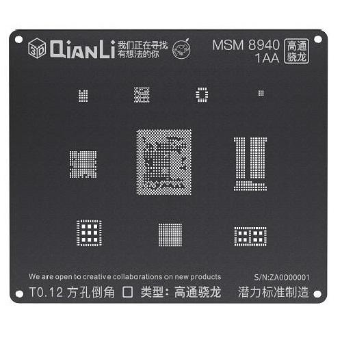 شابلون مشکی و 3D کوالکام MSM8940 برند Qianli