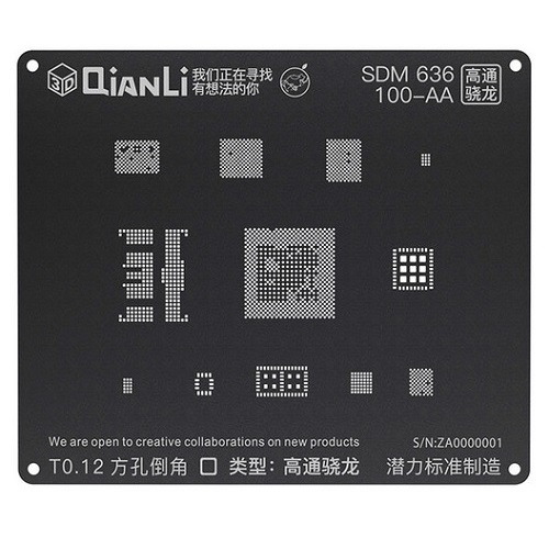 شابلون مشکی و ۳D کوالکام SDM636 برند Qianli