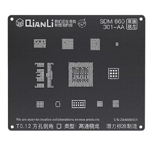 شابلون مشکی و ۳D کوالکام SDM660 برند Qianli