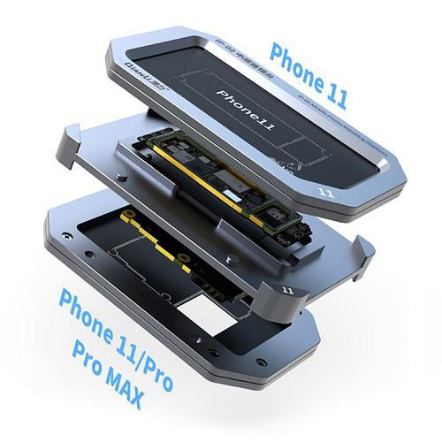 شابلون مگنتی فلزی لایه های برد آیفون iPhone 11/11pro/pro max برند Qianli