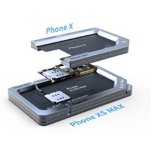 شابلون مگنتی فلزی لایه های برد آیفون X, XS, XS MAX برند Qianli